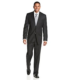 Calvin Klein Men's Black Pinstripe 2-Piece Suit