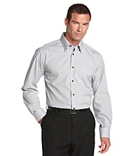 Kenneth Roberts Platinum® Men's Check Buttondown Shirt - Silver