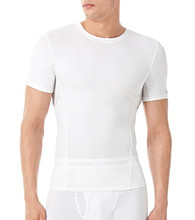 Calvin Klein Men's White Compression Short Sleeve Crew Tee