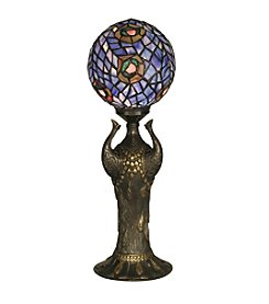 Dale Tiffany Globe Peacock Table Lamp