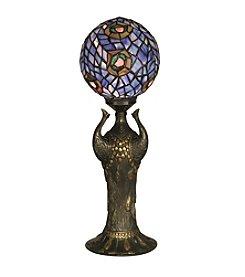 Dale Tiffany Globe Peacock Table Lamp