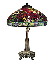Dale Tiffany Red Peony Table Lamp