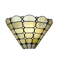 Dale Tiffany Beige Geometric Wall Sconce