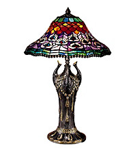 Dale Tiffany Peacock Tail Replica Table Lamp