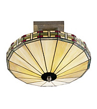 Dale Tiffany Umbrella Mission Semi-Flush Mount Light
