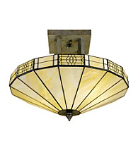 Dale Tiffany Umbrella Frligree Mission Semi-Flush Mount Light