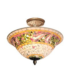 Dale Tiffany Bradshaw Mosaic Semi-Flush Mount