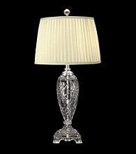 Dale Tiffany Crystal With Polished Chrome Finish Table Lamp