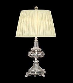 Dale Tiffany Crystal Nickel Fabric Table Lamp