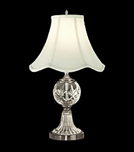 Dale Tiffany Tulip Fabric Shade Crystal Table Lamp