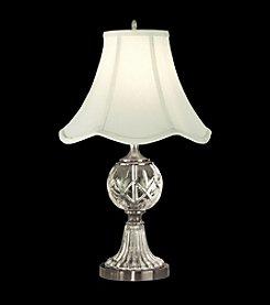 Dale Tiffany Tulip Fabric Shade Crystal Table Lamp