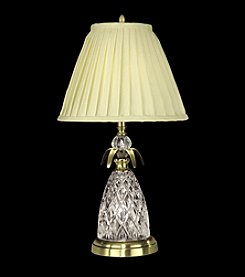 Dale Tiffany Brass Finish Crystal Table Lamp