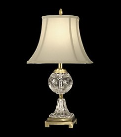 Dale Tiffany Cream Fabric Shade Crystal Table Lamp