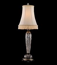 Dale Tiffany Satin Shingle Crystal Table Lamp