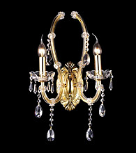 Dale Tiffany Elliott Crystal Wall Sconce