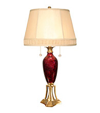 Dale Tiffany Alton Antique Brass Table Lamp