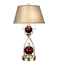 Dale Tiffany Alton Satin Nickel Table Lamp