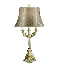 Dale Tiffany Floral Print Victorian Table Lamp