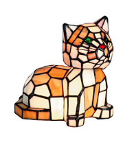 Dale Tiffany Tiger Cat Accent Lamp