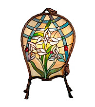 Dale Tiffany Floral Panel Accent Lamp