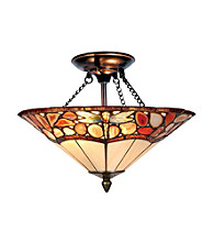 Dale Tiffany Dragonfly Agate Flush Mount