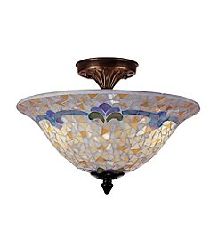 Dale Tiffany Johana Mosaic Semi Flush Mount