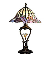 Dale Tiffany Pansy Table Lamp With LED Light