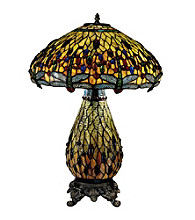 Dale Tiffany Jeweled Dragon Table Lamp