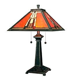 Dale Tiffany Amber Monarch Table Lamp