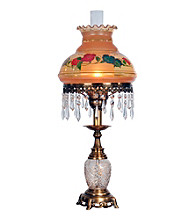 Dale Tiffany Handpainted Hurricane Table Lamp