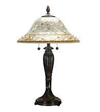 Dale Tiffany Amber Mosaic Table Lamp