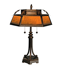 Dale Tiffany Hex Mica Table Lamp