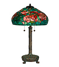 Dale Tiffany Elaborate Peony Tiffany Replica Table Lamp