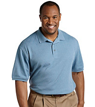 Oak Hill® Men's Big & Tall Diamond Mercerized Wicking Polo