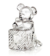 Waterford® Crystal Tender Animals Teddy Bear on Block