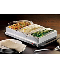 Nostalgia Electrics® Three-Station Buffet Server And Warming Tray™