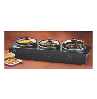 Nostalgia Electrics® 2.5-qt. Triple Slow Cooker Buffet