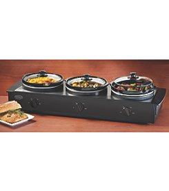 Nostalgia Electrics® 2.5-qt. Triple Slow Cooker Buffet