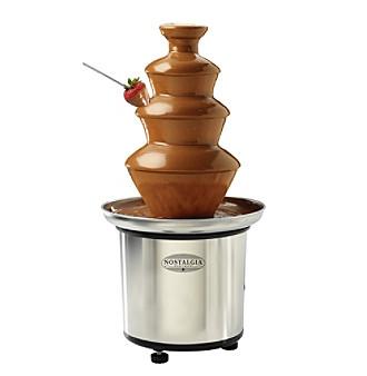 Nostalgia Electrics® 3-Tier Stainless Steel Chocolate Fondue Fountain