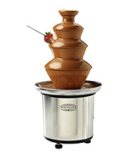 Nostalgia Electrics® 3-Tier Stainless Steel Chocolate Fondue Fountain