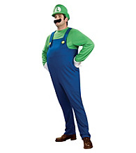 Super Mario Bros. - Deluxe Luigi Plus Adult Costume