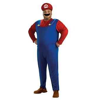 Super Mario Bros. - Mario Plus Adult Costume