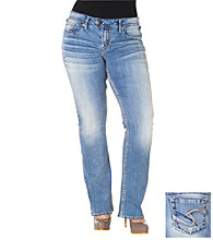 Silver Jeans Co. Plus Size Tuesday Low-Rise Indigo Wash Bootcut Jeans