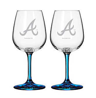Boelter Brands MLB® Atlanta Braves 2-Pack Wine Glasses