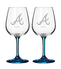 MLB® Atlanta Braves 2-Pack Wine Glasses