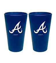 Boelter Brands MLB® Atlanta Braves 2-Pack Frosted Pint Glasses