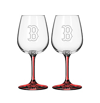 Boelter Brands MLB® Boston Red Sox 2-Pack Wine Glasses