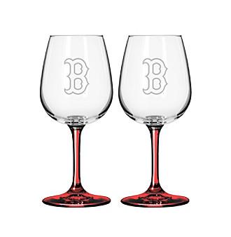 Boelter Brands MLB® Boston Red Sox 2-Pack Wine Glasses