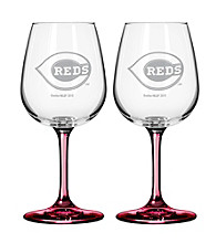 Boelter Brands MLB® Cincinnati Reds 2-Pack Wine Glasses