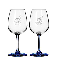 Boelter Brands MLB® Cleveland Indians 2-Pack Wine Glasses